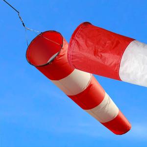 Manica a vento realizzata con tessuto ripstop 80 gr misura cm.240 bocca cm. 60 bocca post. cm.30