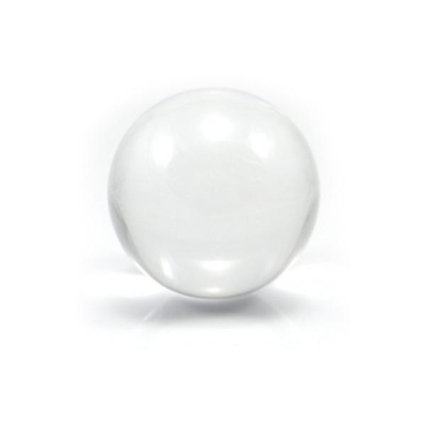 Pallina contact trasparente semi professionale per giocolieri