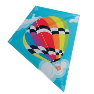Aquilone in tessuto e fibra di vetro con l'immagine di una mongolfiera per bambini