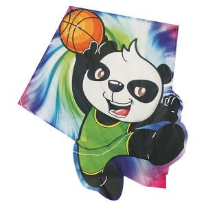 Aquilone in tessuto e fibra di vetro con l'immagine di un panda per bambini