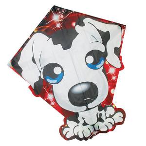 Aquilone in tessuto e fibra di vetro con l' immagine di cane adatto per bambini e principianti
